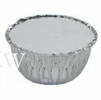 25 x 1LB Foil Pudding Round Dishes Lids Suet Christmas Xmas Disposable Basins