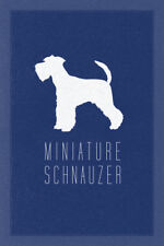 Dogs Miniature Schnauzer Breed Small Dog Germany Guarding Blue Poster - 12x18