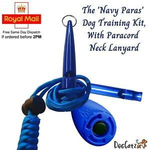 Dog Clicker Whistle Training, Pet Puppy Cat Trainer Kit, Barking, Paracord, Boy