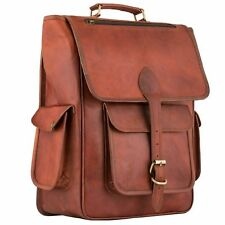 Mens Large 100/% Real Leather Laptop Briefcase Cabin Messenger Hand Bag RRP £180