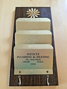 Vintage Tin Letters Bills Holder Advertising Colorado Plumbing Collectible Rare