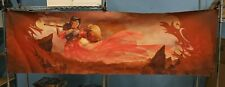 8' Large Table Playmat for Card Gaming Red Art Female Warrior   LAEL05