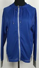 Oakley Women's Blue Gray Hooded Mesh Jacket Sz L New $75 Athletic Sport Shear