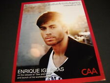 Enrique Iglesias .launch of worldwide tour 2014 Promo Poster Ad mint condition
