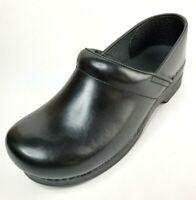 NWOB Dansko Mens Clogs Leather Black Size 45 W ( US Sz 13 )