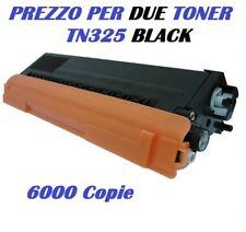 CARTUCCIA PER  BROTHER  MFC9560 MFC9270 SET DA 2 TONER TN325 NERO 6000K