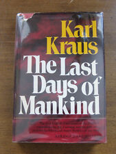 THE LAST DAYS OF MANKIND play by Karl Kraus - 1st/1st HCDJ 1974 Ungar - Austrian