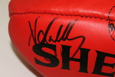 COLLINGWOOD - NATHAN BUCKLEY HAND SIGNED FOOTBALL UNFRAMED + PHOTO PROOF & C.O.A