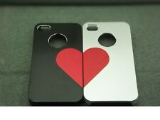 iPhone 5/5s Case with Heart Love/2pcs/ Black & Silver for Valentines/FREE GIFTS