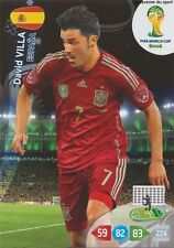 N°156 DAVID VILLA # ESPANA PANINI CARD ADRENALYN WORLD CUP BRAZIL 2014