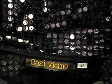 COSI VICINO ItalMerinoSequinEvenJacketSizeItalian42UK12NEW