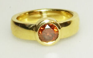 Diamantring Orange 1,57 Carat