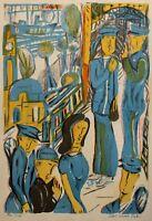 Albert Christoph Reck - o. T. (Hafenszene) - Lithographie - 1962