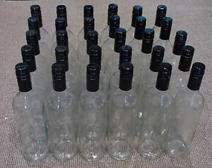 Glass Wine Bottles 30 x 75cl used (cleaned & de-labelled) OR 24 x 75cl new