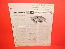 1963 WHITE MOTOR CO TRUCK ROOF-TOP INSTALLATION MOTOROLA AM RADIO SERVICE MANUAL