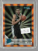 Keldon Johnson 2019 Panini Donruss rookie orange laser -- Spurs