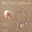 VIZSLA DOG - CHARM BRACELET SILVER CHAIN & HEART