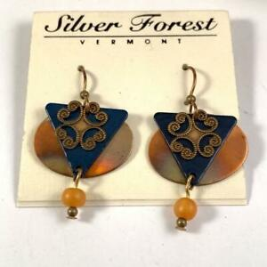 Silver Forest Vermont Artisan Boho Wire Hook Earrings