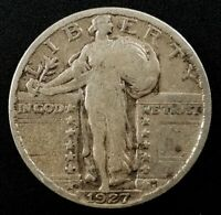 1927 S Standing Liberty Quarter! A mintage of just 396,000!