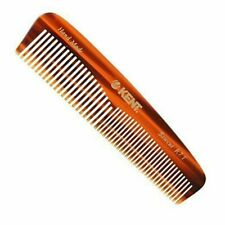 """Kent R7T 5 1/4"""" 130mm Handemade Comb-Fine and Coarse Toothed Pocket Comb Sawcut"""