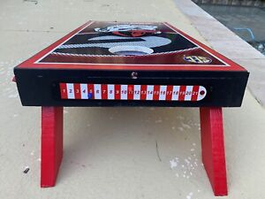 Premium Cornhole Scoreboard with Magnetic Score Keepers Mounts to Any Board.