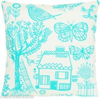 Turquoise Cushion Cover Designers Guild Fabric Boqueria Printed Cotton