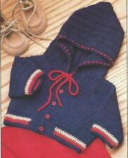 *Baby's Hooded Sweater crochet PATTERN INSTRUCTIONS