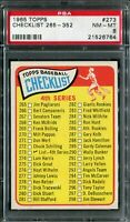 1965 Topps #273 Checklist 265-352 PSA 8 NM-MT