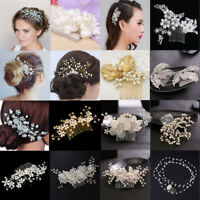 Luxury Crystal Rhinestone Flower Wedding Bridal Hair Comb Hairpin Clip Jewelry