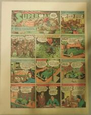 Superman Sunday Page #130 by Siegel & Shuster from 4/26/1942 Tab Size: Year #3