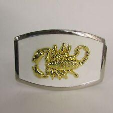 New Men Women Silver Metal Western Fashion Belt Buckle White Gold Scorpion Rodeo