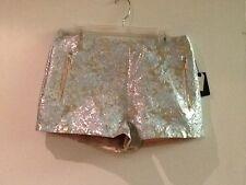 Women's Forever 21 Metallic Brocade Pattern Shorts Size 29