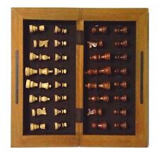 Altes Schachspiel Schachbrett Schachfiguren Schach Groß ca.40 x 40 cm  Holz