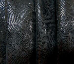 Lederhaut  Rindleder Schwarz abstraktes Muster Velour S190332207 versch. Größen