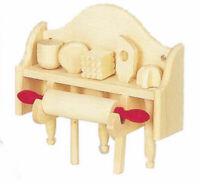 Regal mit Handtüchern und Flaschen Bad Puppenhaus Puppenstube 1:12