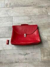 Authentic Ferrari briefcase red