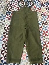 Great Vintage 1940s Wwii Usn /Us Navy Nxsx38051 Deck Pants /Bib Overalls : X-L