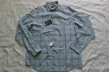 Ermenegildo Zegna Large-Check Long-Sleeve Sport Shirt Blue Size XL Brand new