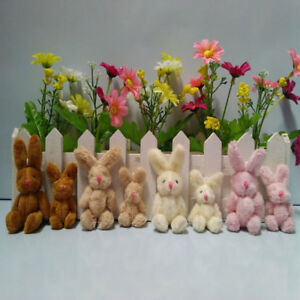 Mini 5- 9 cm Fluffy Cute Spring Bunny Rabbits Party Bags/ Favour/Baby Shower