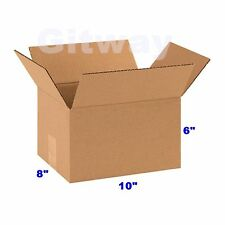 25 Pack 10x8x6 Corrugated Carton Cardboard Packaging Shipping Mailing Box Boxes