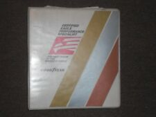 Goodyear Tire & Rubber Co. 1988 Eagle dealer training album and literature