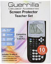 Guerrilla TI-84 Plus Military Grade Screen Protectors - Classroom Pack of 10