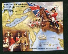 Mini sheet  stamps of  Guernsey.  Hero of Upper Canada