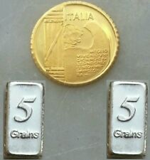 MONETA HGE D'ORO IN FDC E LINGOTTI ARGENTO!! LOT COIN GOLD 24K AND INGOTS SILVER
