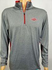 University of Arkansas Razorbacks Gray 1/4 Zip Pullover L