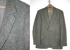 Mens Vintage 80's Magee DONEGAL TWEED Gray Wool FLECKED Sports Coat 38 L //650