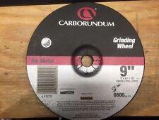 "CARBORUNDUM #61579 GRINDING WHEEL 9"" X 1/4"" X 7/8"" FOR METAL (MK-016)"