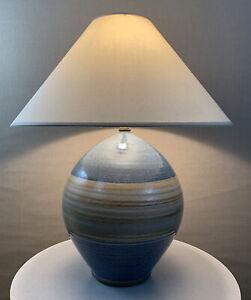Vintage Mid Century Circa 70's Retro Modern Craft Clay California Pottery Lamp