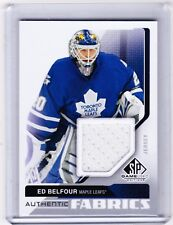 14-15 2014-15 SP GAME USED ED BELFOUR AUTHENTIC FABRICS JERSEY AF-EB MAPLE LEAFS