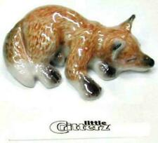 "Little Critterz Miniature Porcelain Animal Figure Fox Cub ""sly"" LC106"